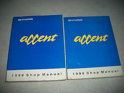 1996 Hyundai Accent Shop Manual Set 2 Volumes Includes Electrical Cmystore4More