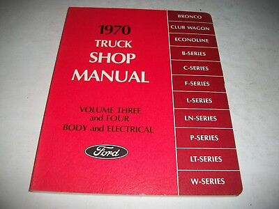1970 Ford Truck Volume 3-4 Nos Shop Manual Body-Electrical  New Unused