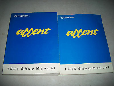 1995 Hyundai Accent Shop Manual Set 2 Volumes Includes Electrical Cmystore4More