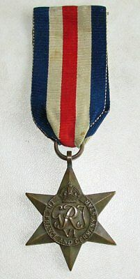 Canadian - British & Commonwealth The France and Germany Star Medal WWII
