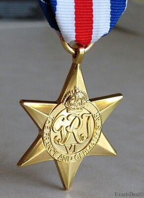 Canadian - British & Commonwealth The France & Germany Star Campaign Medal WWII