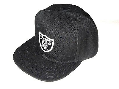 Oakland Raiders Flat Bill Snap Back Hat Cap Black Classic Style One Size New!!