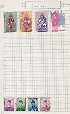 INDONESIA Assorted Stamps Asian Games, Indonesia republic,  etc USED MH #