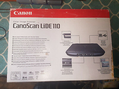 New Canon CanoScan LIDE110 Color Image Compact Scanner USB 4800dpi