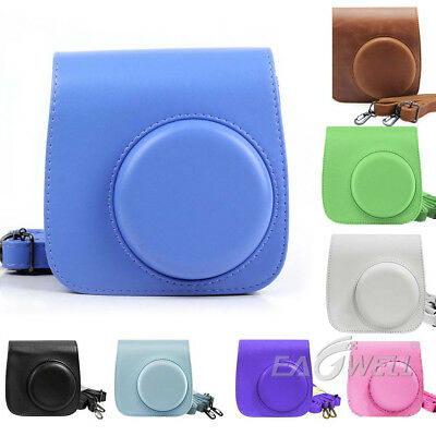 For Fujifilm Instax Mini 8 8+ 9 Film Camera Carrying Bag Shoulder PU Case Cover
