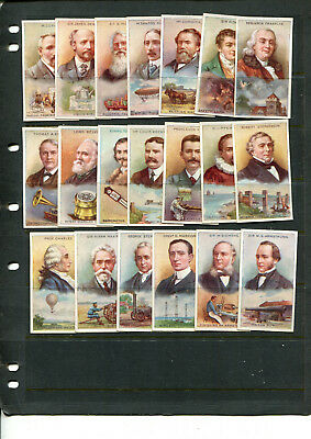 Cigarette Cards 1924 Bucktrout - Inventor Series  Complete Set Of X 20 Cards