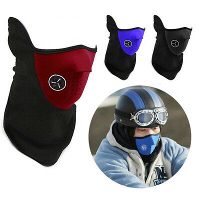 Motorcycle Motorbike Rider Biker Face Mask Cover Veil Thermal Neck Warmer Scarf