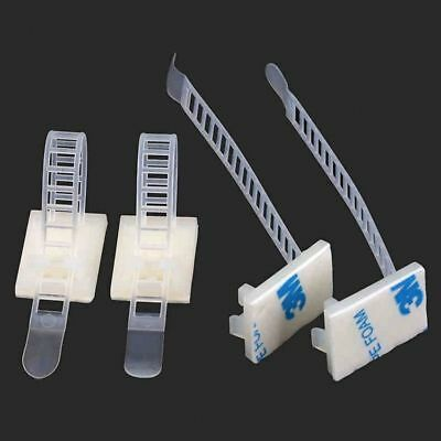 QTY 10 - 3M Stick-type Nylon Holder Cable Clamps Wire & Cable Tie