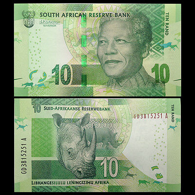 South Africa 10 Rand, ND 2015/2016, P-138 NEW, NEW SIGNATURE, UNC