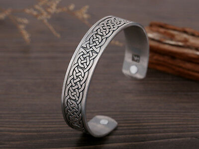 Ancient Norse Viking Irish Celtic Knot Magnetic Healthcare Cuff Amulet Bracelet