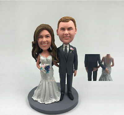 polymer clay Figurine photo Perfect Unique Wedding custom Newly Married Gift