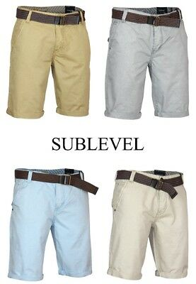 Sublevel Men/'s Shorts Bermuda Trousers With Belt Zip Summer Holiday