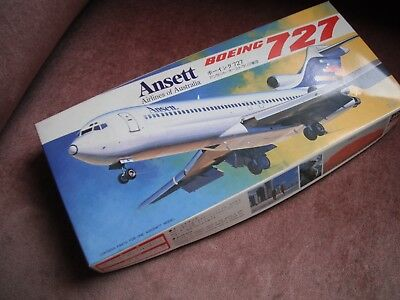 Ansett Boeing 727 Hasegawa Hobby Kits -plastic bag has been open /looks complete