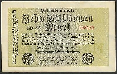 GERMANY - 10.000.000 mark 1923 (10 million) P# 106a - Edelweiss Coins