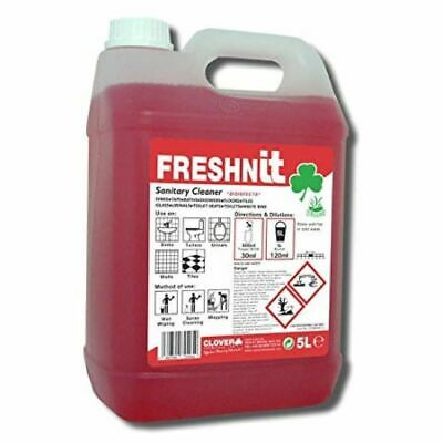 Clover Freshn IT Sanitary Cleaner (Qty 5Ltr) 898 Washroom, Janitorial