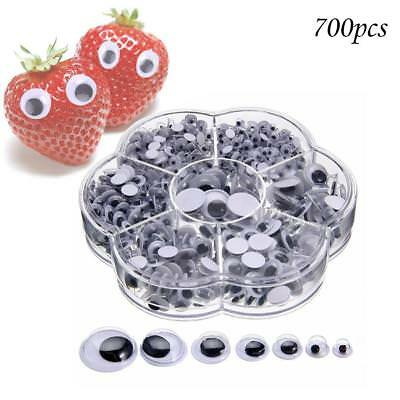 700pcs Wobbly Googly Wiggly Eyes Toys For DIY Scrapbooking Crafts Accessories*