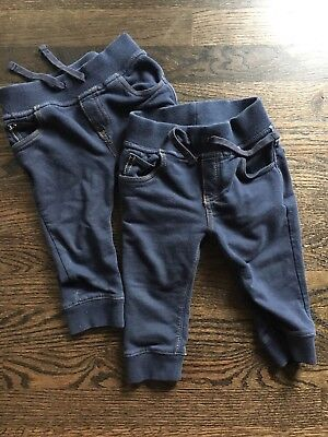 Baby Gap Knit Demin Joggers, 12-18 Months
