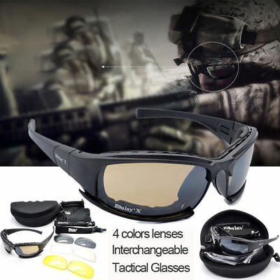 Daisy X7 Polarised Tactical Goggles Army Military Glasses Motorcycle Sunglasses