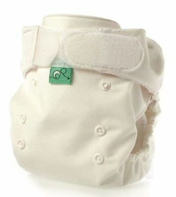 TotsBots Pocket Tot Cotton Reusable Nappy, White, 5 Pack