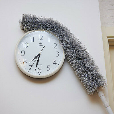 Home Extendable Telescopic Flexible Microfiber Feather Duster Cleaner Tool AU