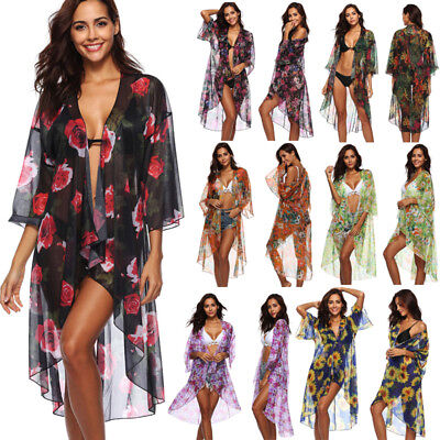 Summer Women Bathing Suit Bikini Swimwear Cover Up Beach Dress Sarong Wrap US