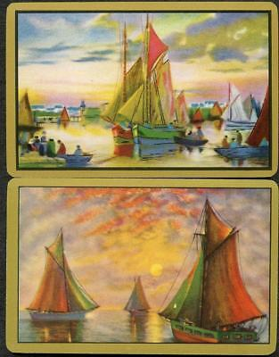 Swap Cards Beautiful Vintage Boat Scene Excellent Cards