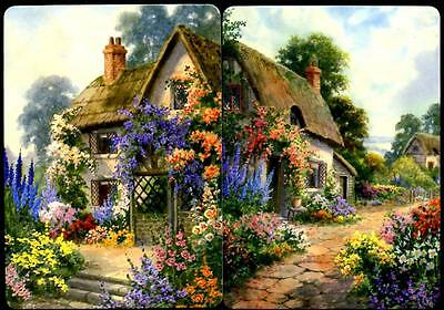 Cottage Swap Card Set Of Two  Connecting Cards Very Beautiful (Brand New)