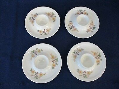 Vintage / Retro 4 Floral China Egg Cups / Holders