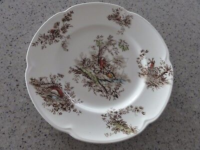 "Johnson Brothers Vintage Plate ""Pastorale Toile de Jouy Boy Fishing"""