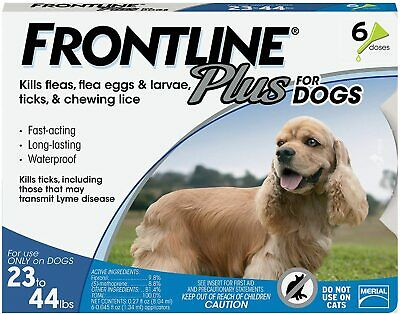 Frontline Plus for Medium Dogs 23-44 lbs. 8 Doses - flea and tick treatment