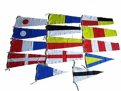 100/% COTTON MARITIME Signal Code FLAG Set Set of Total 40 flag with CASE