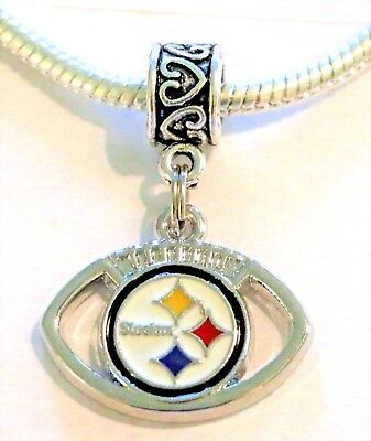 NFL Pittsburgh Steelers Pendant Charm for European Charm Bracelet or Necklace's.