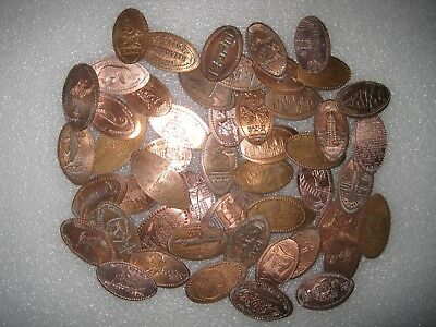 Nice Mix Of 50 ALL DIFFERENT Elongated Pennies Cents Lot 1C404