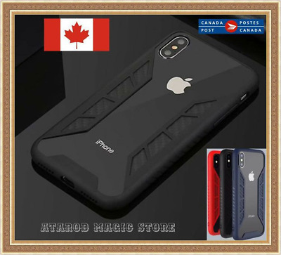 hybrid Carbon fiber armor shokproof case cover skin for iPhone X 6 7 8 Plus