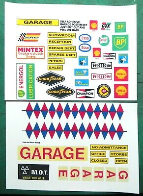 Garage signs for toys etc., self -adhesive