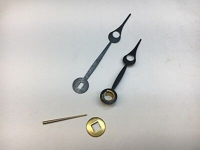 "Antique Clock Moon Hand Set with Oblong Hole for 5"" Dial with Washer and Pin"