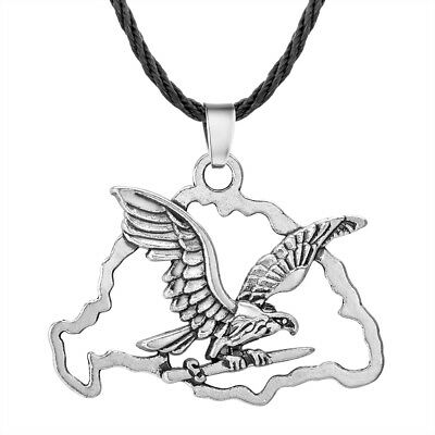 Gothic Hawk Flying Men Necklace Animal Pendant Viking Eagle Wings Jewelry