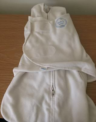 Halo Sleepsack Swaddle White Newborn Birth to 3 mo 6-12lb Unisex Zipper Fleece