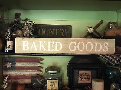 Baked Goods Farmhouse Sign Primitive Country HandMade Rustic Reclaimed Wood