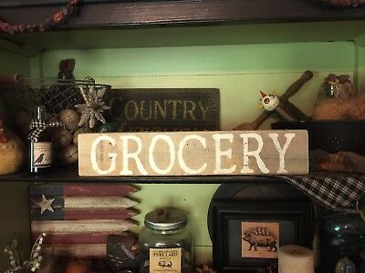 GROCERY Farmhouse Sign Primitive Country HandMade Rustic Reclaimed Wood