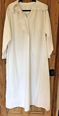 Original Victorian White Cotton Nightdress {Long Sleeves}