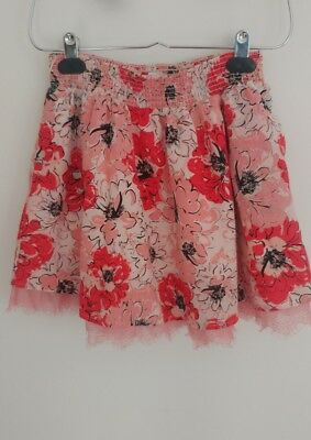 Girls Medium (10-12) Floral Skirt CANDIE'S GIRL pink red