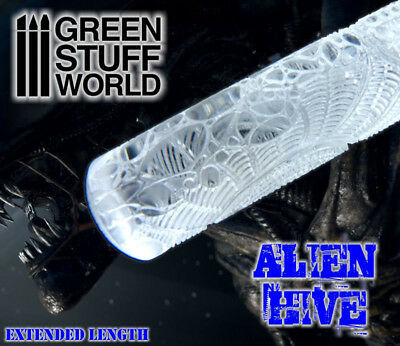 Rolling Pin - ALIEN HIVE Texture - tool polymer clay diorama scenery impression