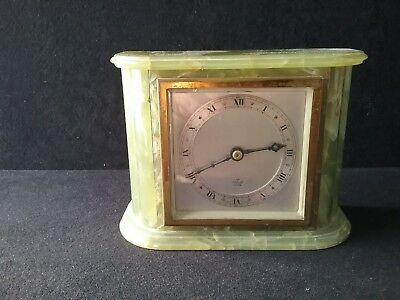 Elliot mantel/bracket clock in green onyx (B21)