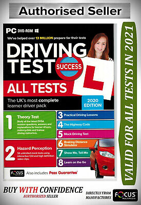 NEW Driving Theory Test Success All Tests And Hazard Perception PC DVD Rom 'atPc