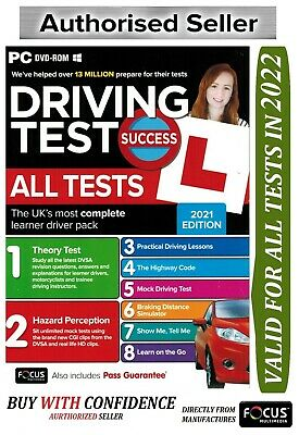 2018 Driving Theory Test Success All Tests And Hazard Perception PC DVD Rom atPc