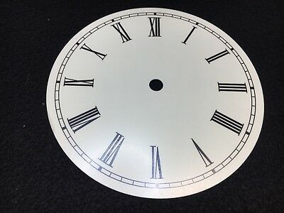 """Clock Dial Roman Numerals Metal 6"""" Round with 5 1/2"""" Time Ring USA made"""