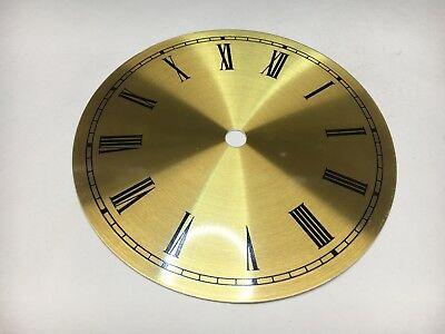 "Clock Dial Roman Numerals Metal 6"" Round with 5 1/2"" Time Ring USA made"