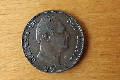British William IV Farthing Coin 1831 Very Fine Grade Very Nice.