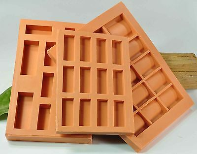 (G01) 3 x Cast Molds for Difference Bricks and Ceiling Tiles, Crib